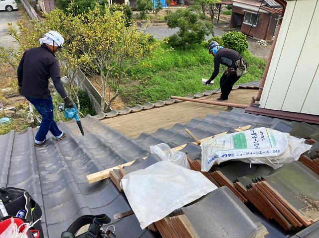 屋根リフォーム葺き直し前