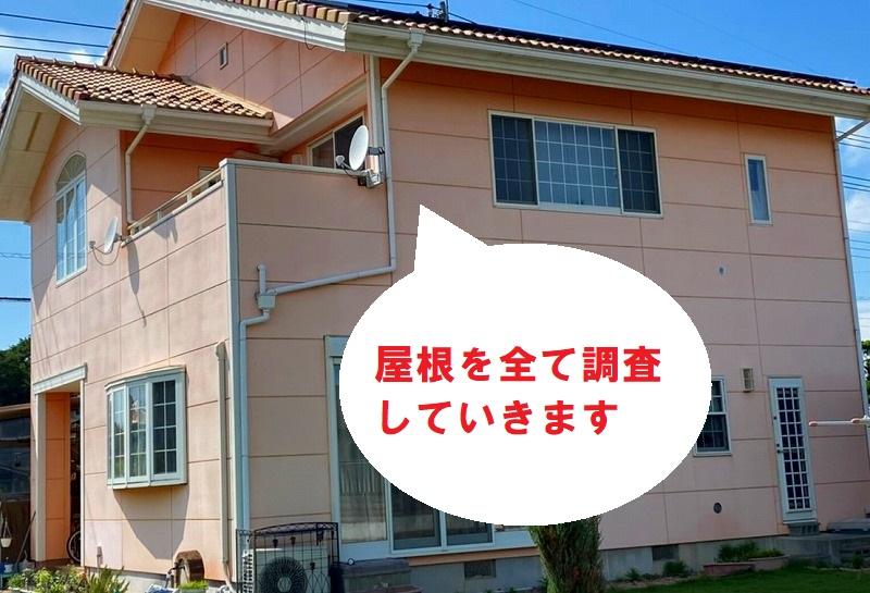 古河市のお客様は屋根に住み着いたスズメの声がうるさいので、屋根の調査を致します