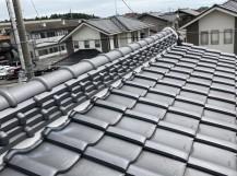 水戸市の和瓦屋根の漆喰工事が完了しました