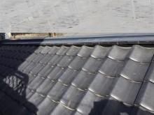 倉庫屋根漆喰補修完了