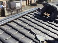 倉庫屋根漆喰補修