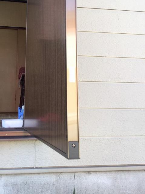 水戸市で新しく付け替えた勝手口のフラッシュドア