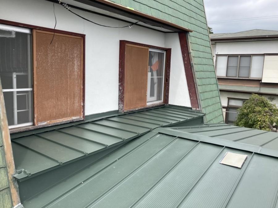 屋根葺き替えタフビーム雨漏り修理