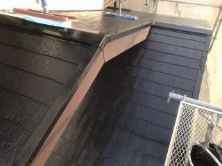 屋根の塗装リフォームが完了したひたちなか市の現場屋根