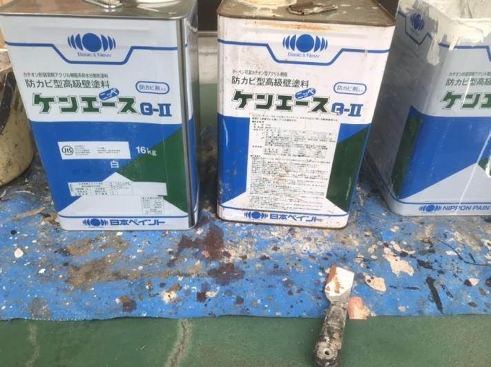 防カビ塗料として使用する日本ペイントのケンエースG-Ⅱ