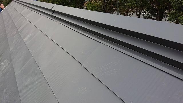 ガルバリウム銅板棟二段板金