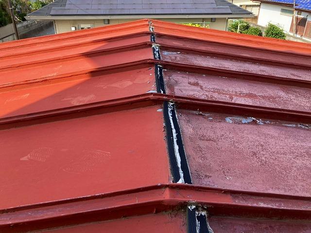 屋根リフォーム前の瓦棒屋根