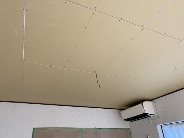 天井ボード施工を行った日立市の現場