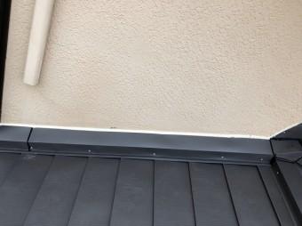 石岡市ガルバリウム鋼板クランク壁取り合い雨押え