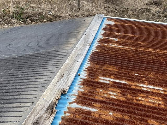 棟の下地の貫板の腐食