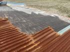 飛散してしまった波板トタン屋根の一部
