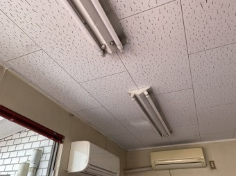 天井貼り完成