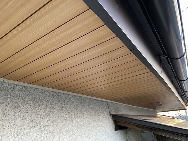 古河市で破風板にガルバリウム鋼板を捲き雨樋交換も完了です