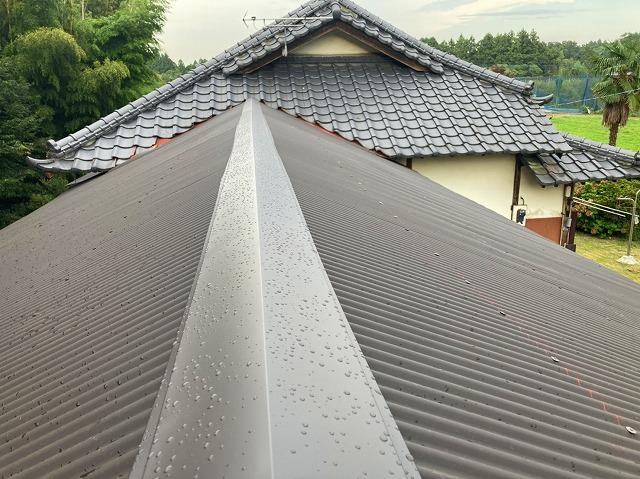 ガルバリウム波板で葺き替えた水戸市の屋根