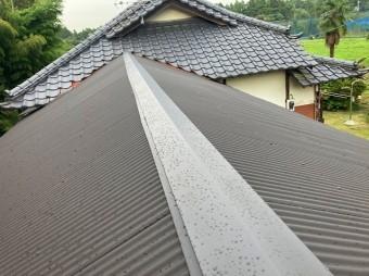 水戸市で母屋と隣接する波トタン屋根