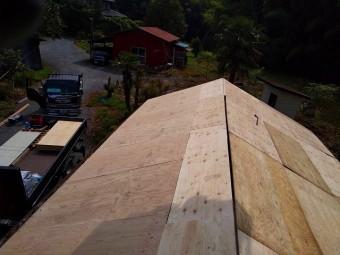 野地板ベニヤの施工完了