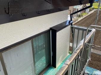 小美玉市の現場で上塗りが完了した2階南側面