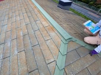 調査依頼を頂いた水戸市の3階建て住宅の屋根の上