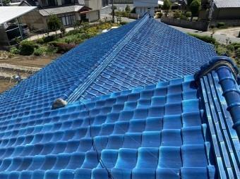 結城市の屋根上から撮影した棟違い屋根