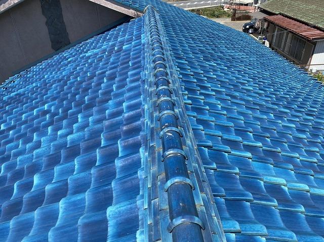 結城市の棟違い屋根をケラバ側から撮影