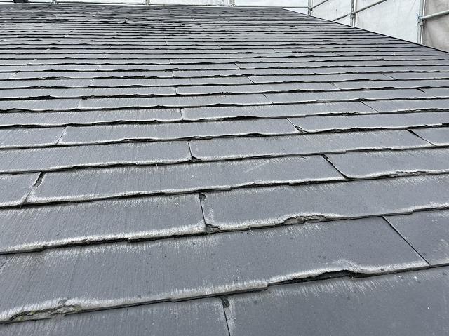 カバー工事前の水戸市の屋根