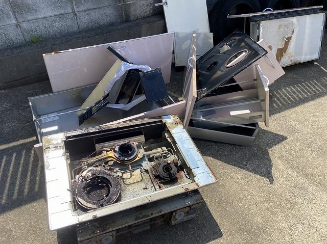 水戸市のお客様宅で解体したシステムキッチン