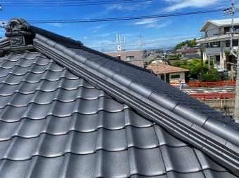 1部補修屋根工事を行ない元通りになった瓦屋根