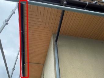 軒天増し張り工事鼻隠し板側の処理