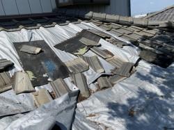 雨漏り補修屋根葺き替え工事前