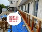 水戸市で巨大台風にも負けない強いベランダ雨仕舞い工事で再度防蟻剤を塗ります