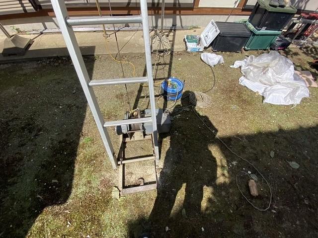 梯子制荷揚げ機のウインチ部分