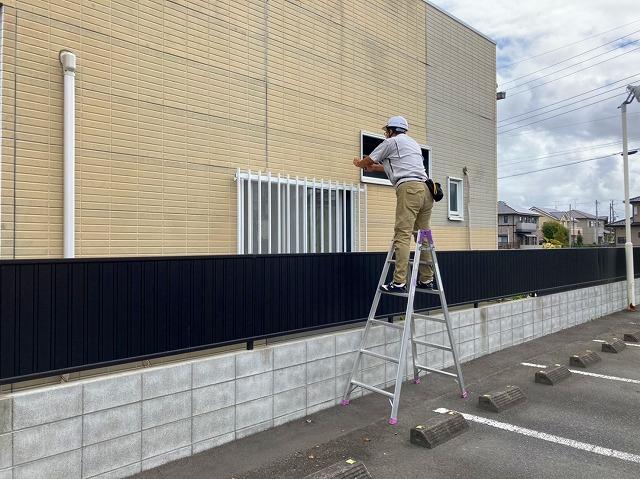 水戸市の店舗様雨漏り調査は外壁を確認します