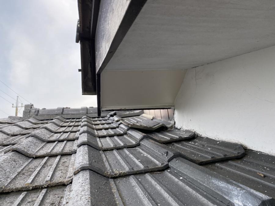 軒天修理が完了した水戸市内の屋根画像