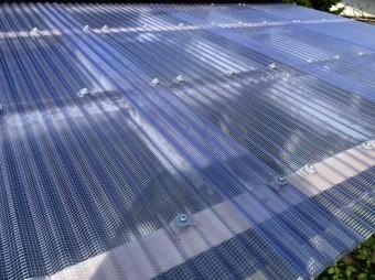 完成したテラス屋根の交換工事