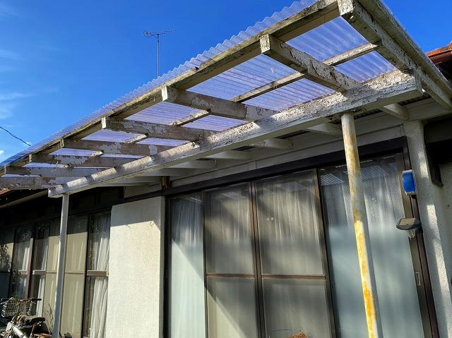 テラス屋根工事が完了です