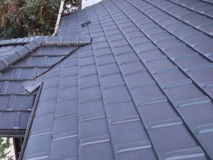 防災瓦で葺き替えが完了した茨城県内の屋根
