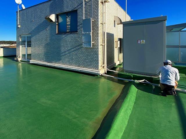 屋上防水はシート防水が施されている