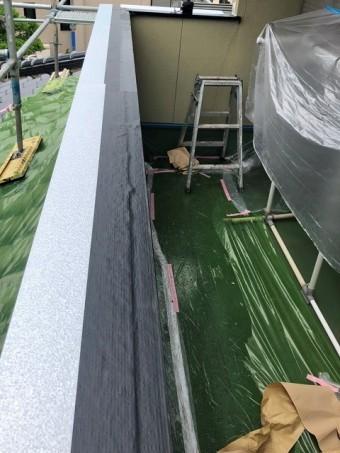 茨城町で施工した笠木防水水切りシート