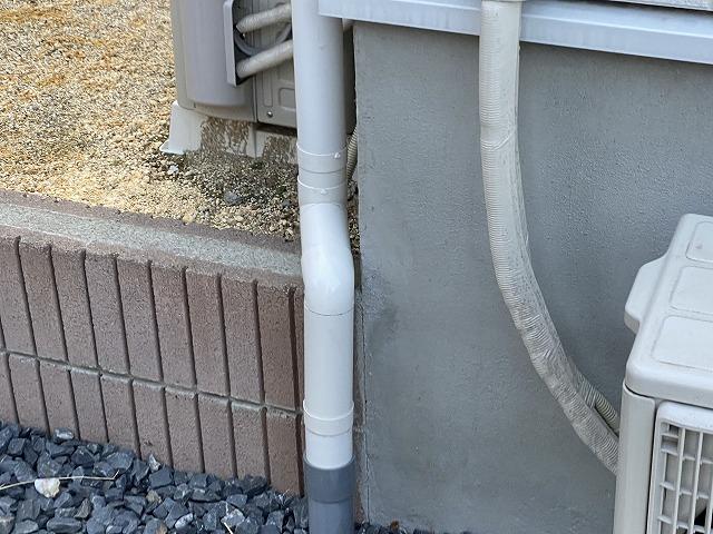 部分的な交換補修が完了した水戸市内の雨樋
