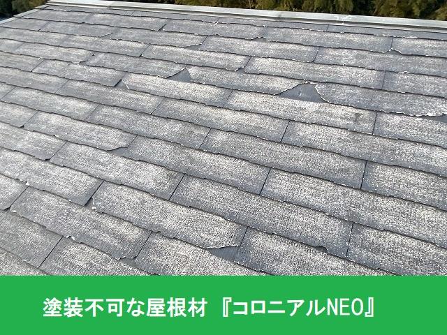 塗装工事不可な屋根材であるコロニアルNEO