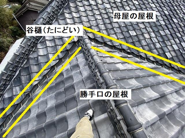 常陸太田市で雨漏りが発生した瓦屋根の部位を解説