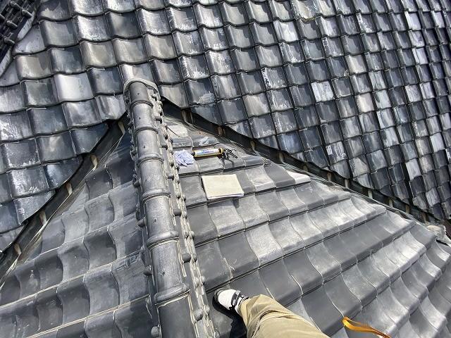 土瓦葺きの常陸太田市の屋根