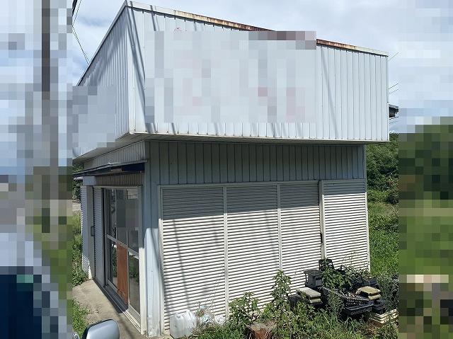 大洗町の作業場の雨漏り調査外観