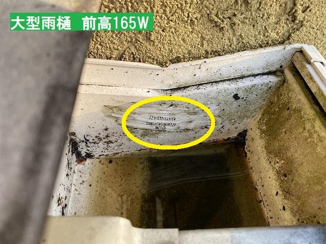 水戸市の大型雨樋メンテナンス中に見つけた勾配不良と蝙蝠の糞?