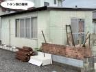 ひたちなか市の雨漏り修理依頼のあった作業小屋の風景