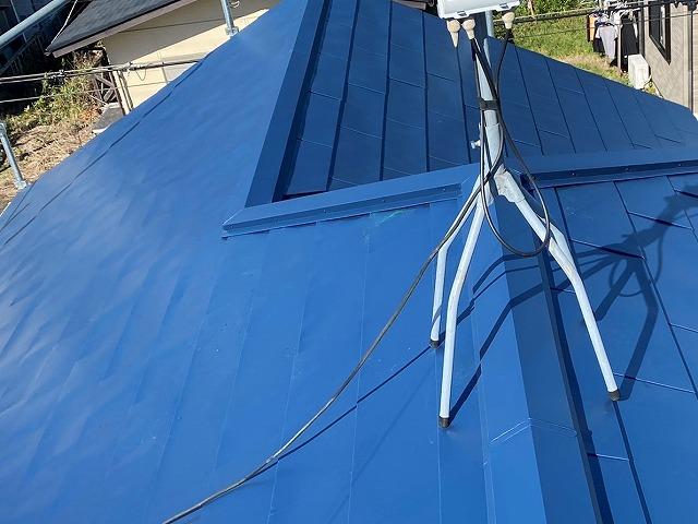 屋根工事が完了した小美玉市の大屋根