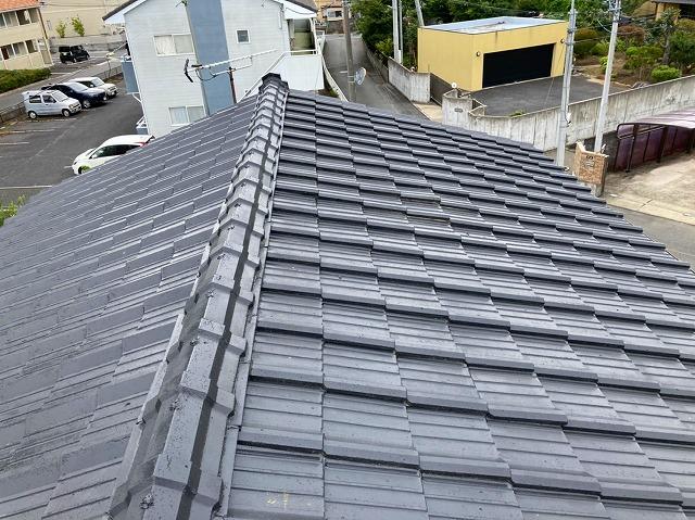 水戸市のモニエル瓦屋根は塗装されたばかり