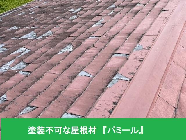 塗装工事不可な屋根材であるパミール