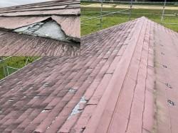 スレート屋根カバー工法施工前
