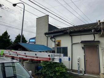 小美玉市のパラペット屋根の店舗様解体現場調査